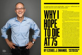 Why I hope to die at 75